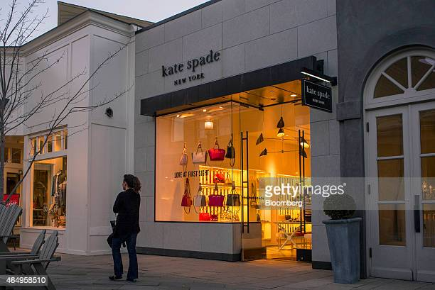 A pedestrian walks past a Kate Spade Co store in Corte Madera California US on Friday Feb 27 2015 Kate Spade Co is expected to release earnings...