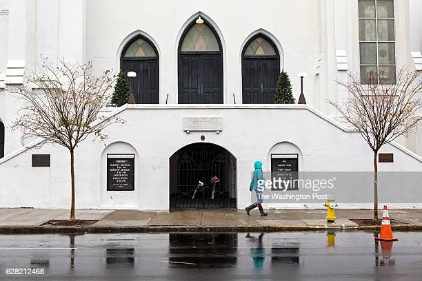 A pedestrian walks past a sign thanking for the support that has been shown Mother Emanuel AME Church Tuesday Dec 06 2016 in Charleston