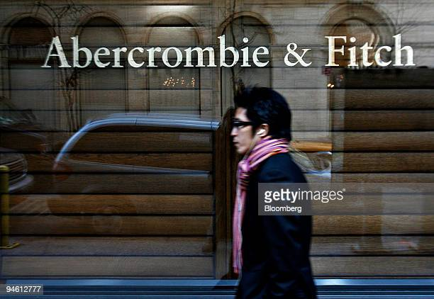 A pedestrian walks past an Abercrombie Fitch store in New York Wednesday Feb 21 2007