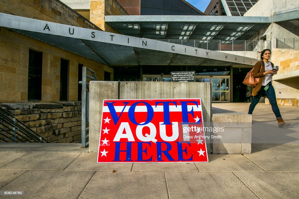 Texas Voters Head To Polls For First Primary For 2018 Midterm Elections : News Photo