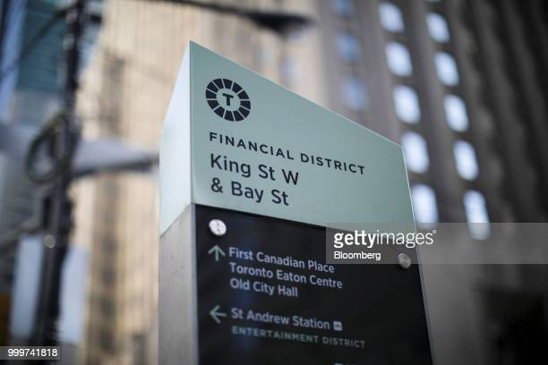 A pedestrian walks past the Toronto Stock Exchange in the financial district of Toronto Ontario Canada on Wednesday July 11 2018 Canadian stocks were...