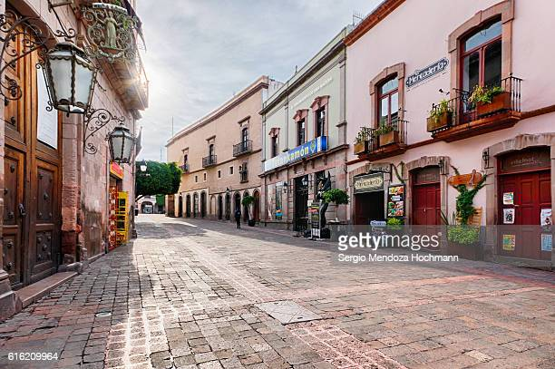 Pedestrian walkways of downtown Queretaro, Mexico