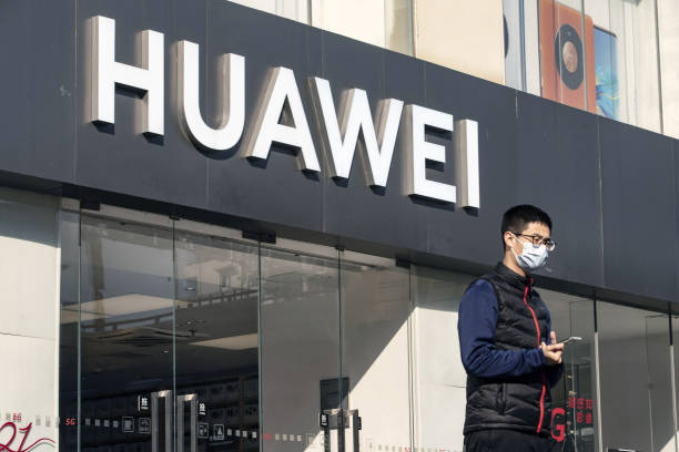 CHN: Huawei Technologies Co. Store In Shanghai As Trump Halts Telecommunication Giant's Supply in Fin