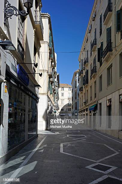 pedestrian zone, downtown, malaga, andalusia, spain, europe - michael mucha stock-fotos und bilder