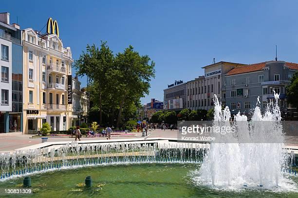 Pedestrian zone in Varna, Bulgaria