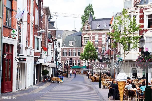 Pedestrian zone in Venlo at summertime