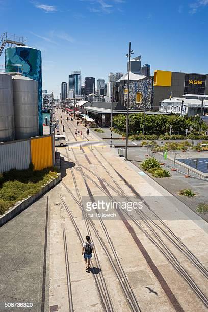 Pedestrian zone in Wynyard Quarter, Auckland, New Zealand