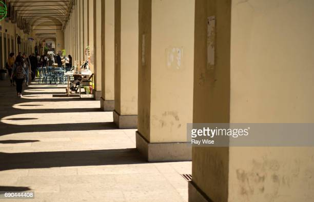 Pedestrian Zone on Via Po in Turin Italy.