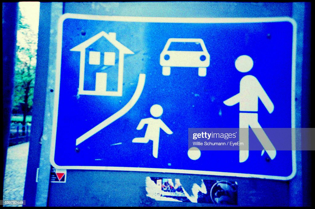 Pedestrian Zone Sign : Foto stock