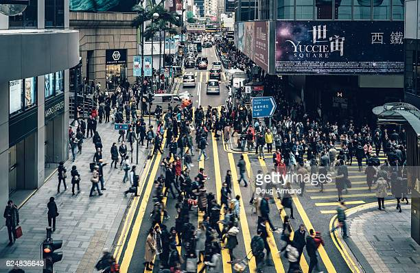 Pedestrians at  De Veoux Central, Hong Kong