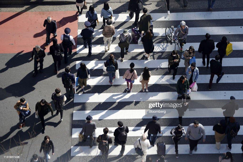 JPN: Shibuya Crossing In Tokyo As Japan's Inflation Slips Lower