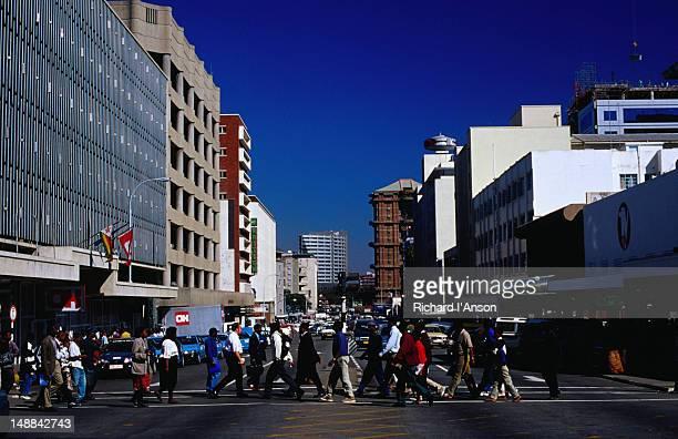 Pedestrians crossing Nelson Mandela Avenue