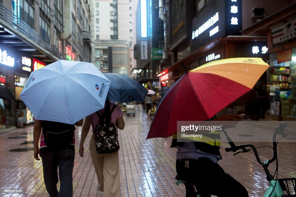CHN: General Images of Downtown Shenzhen as China's $11 Trillion Bond Market Tested by Rising Defaults