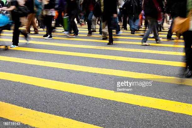 Peatones en Hong Kong