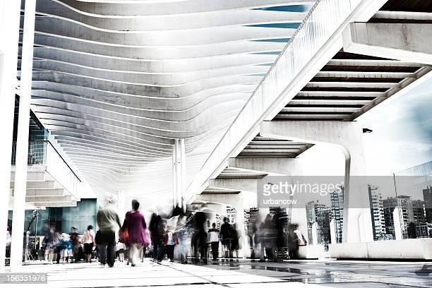 Pedestrians in motion, Port of Malaga