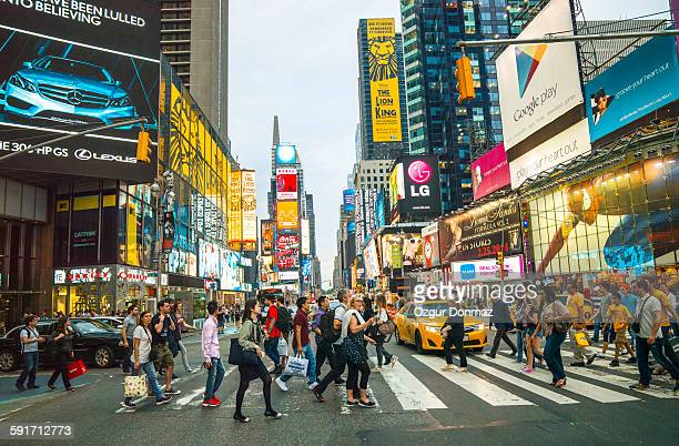 Pedestrians in Times square, New York