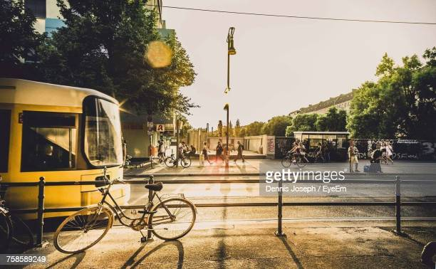 pedestrians on street in city - berlin stock pictures, royalty-free photos & images