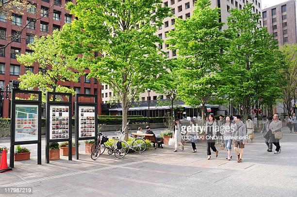 Pedestrians on Street in Tokyo