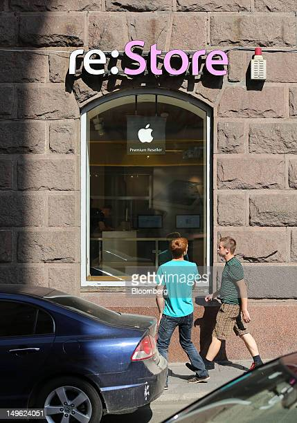 Store a premium Apple product reseller in Moscow Russia on Wednesday Aug 1 2012 OAO Mobile TeleSystems the iPhone's biggest wireless carrier in...