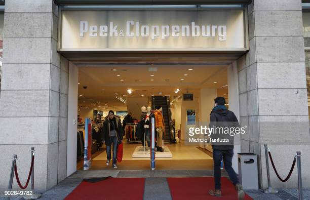ee75e4c7a00b1f Pedestrians pass by a Peek Cloppenburg clothes store on January 8 2018 in  Berlin Germany According
