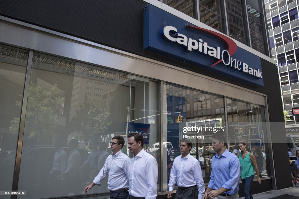 A Capital One Financial Corp. Bank Branch As Earnings Released