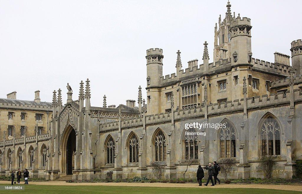 University Of Cambridge College Buildings : News Photo