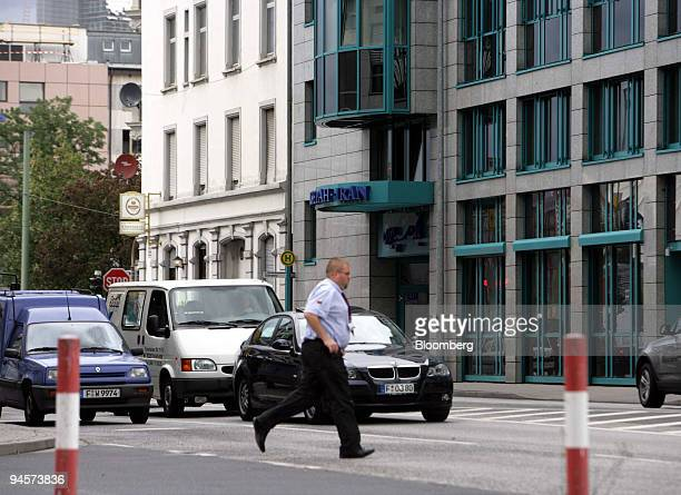 Pedestrians pass the Bank Sepah International in Frankfurt, Germany, Tuesday, July 24, 2007. On Dec. 23 the United Nations Security Council slapped...