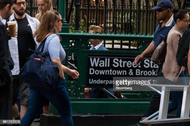 Traders work on the floor of the New York Stock Exchange in New York US on Friday June 22 2018 US stocks climbed following gains in Europe as OPEC's...