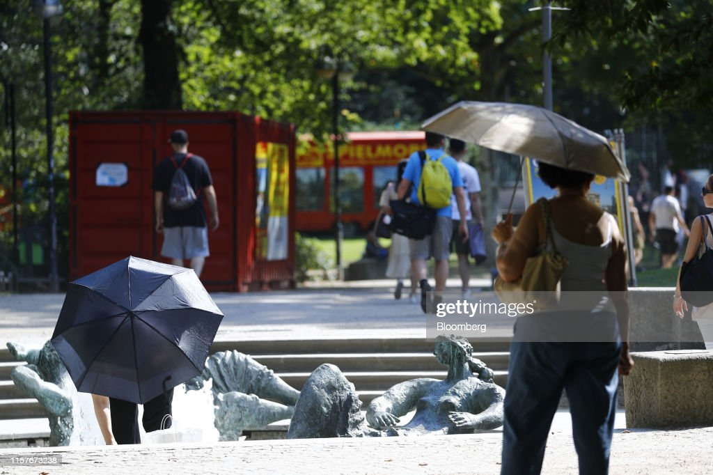 European Heat Records Tumble : News Photo