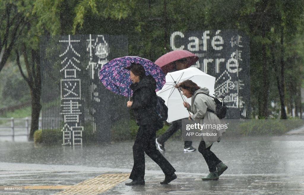 JAPAN-VOTE-WEATHER : News Photo