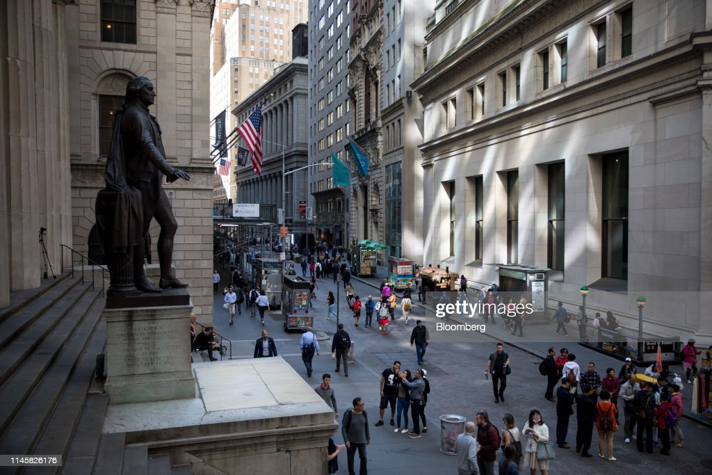 NY: Trading On The Floor Of The NYSE As U.S. Stocks Pare Gain As Rocky Week Nears End