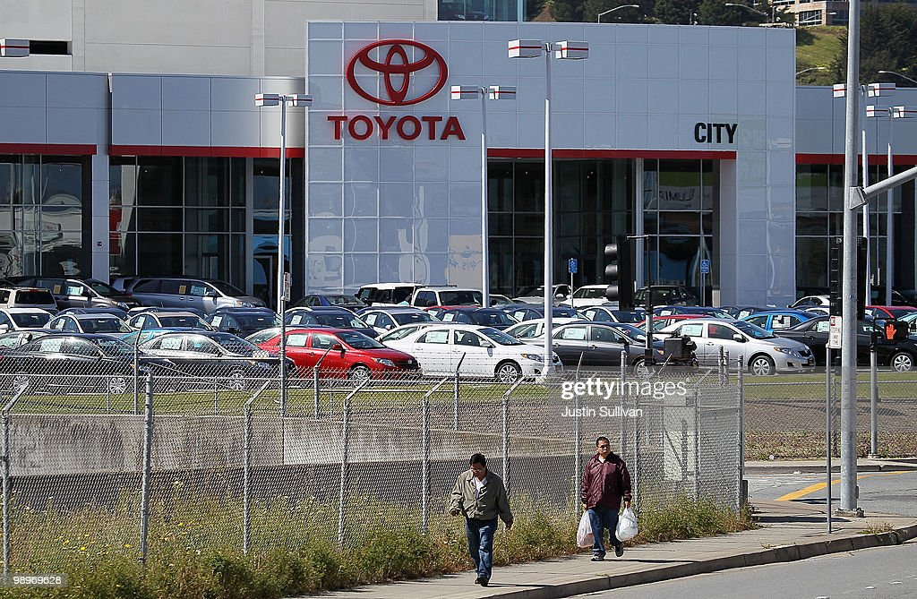 Superb Pedestrians Walk By The Sales Lot At City Toyota May 11, 2010 In Daly City