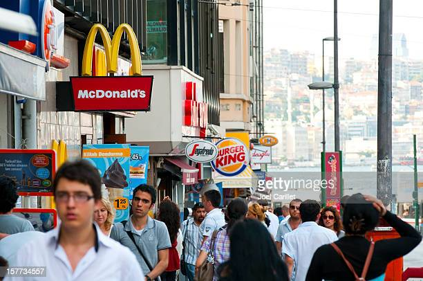 McDonald's and Burger King: Fast food in city