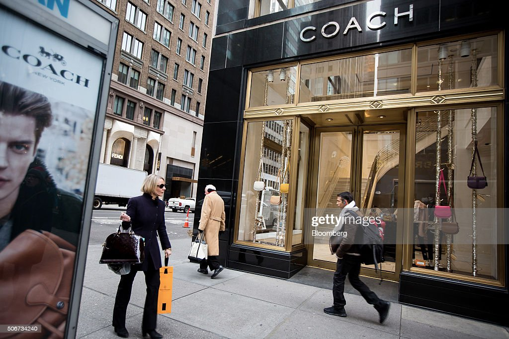 A Coach Inc. Store Ahead Of Earnings Figures : News Photo