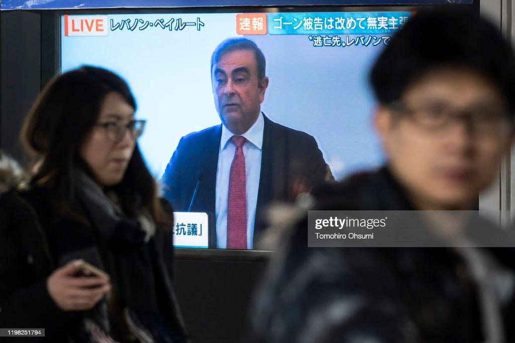 Carlos Ghosn Flees Trial in Japan for Lebanon : News Photo