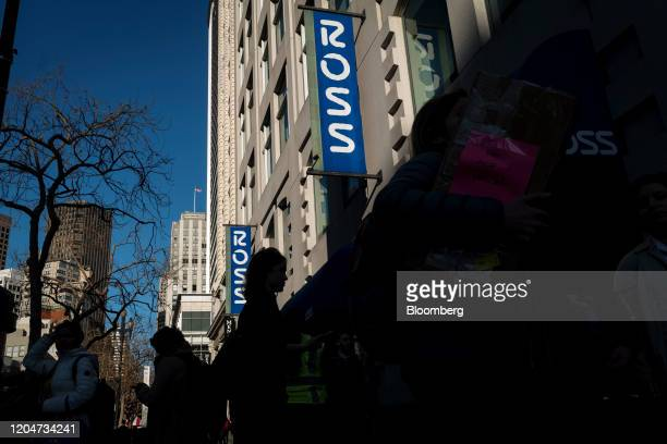 Pedestrians walk past a Ross Stores Inc. Store in San Francisco, California, U.S., on Wednesday, Feb. 26, 2020. Ross Stores is expected to release...