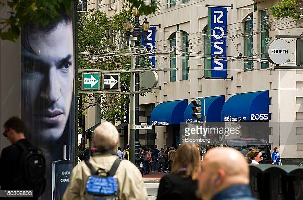 Pedestrians walk past a Ross Stores Inc. Store in San Francisco, California, U.S., on Tuesday, Aug. 14, 2012. Ross Stores Inc. Is expected to release...
