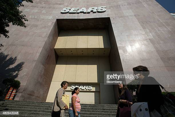 Pedestrians walk past a Sears store on Insurgentes Avenue in Mexico City Mexico on Thursday July 16 2015 Blockbuster Woolworth and Sears extinct or...