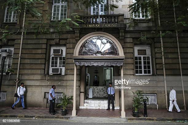 Pedestrians walk past Bombay House headquarters to the Tata Group in Mumbai India on Saturday Nov 5 2016 Cyrus Mistry the ousted chairman of India's...