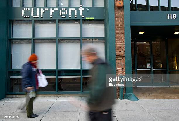 Pedestrians walk past Current TV LLC headquarters in San Francisco California US on Friday Jan 4 2013 Al Jazeera will pay about $500 million for...