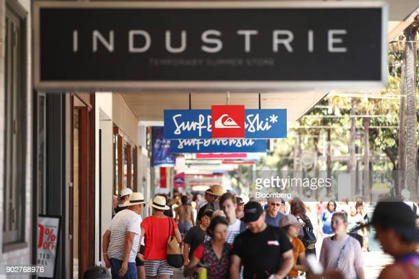 Pedestrians walk past stores in the Manly Corso retail area in Sydney Australia on Friday Jan 5 2018 The Australian Bureau of Statistics is scheduled...