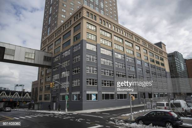 Pedestrians walk past the 175 Pearl building in the Dumbo neighborhood of the Brooklyn borough of New York US on Thursday March 8 2018 Two months...