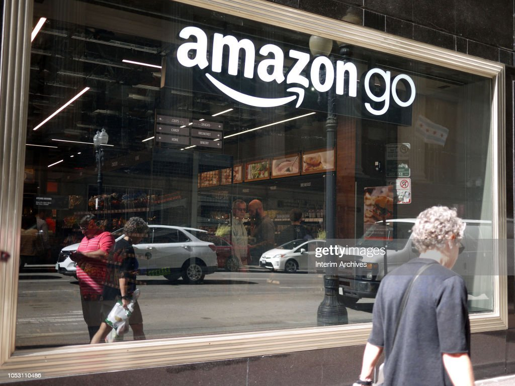 Amazon Go Store Window In Chicago : News Photo