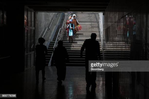 Pedestrians walk through an underpass in Dushanbe Tajikistan on Sunday April 22 2018 Flung into independence after the Soviet Union collapsed in 1991...