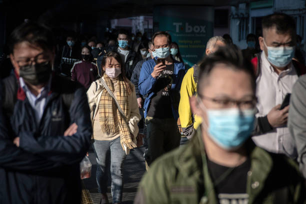 CHN: Views of Hong Kong As City Tightens Gatherings, Sends Civil Servants Home To Contain Latest Wave Of Coronavirus Infection