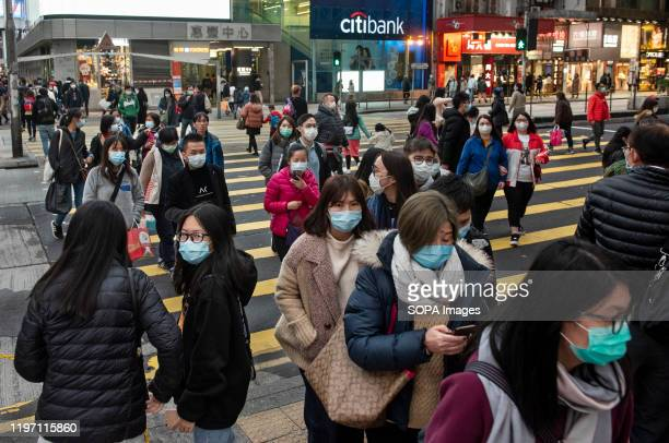 Pedestrians with sanitary masks to prevent infections Since the spread of the corona virus the death stands at 106 with the number of infections...