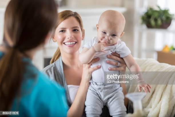 Pediatric nurse makes house call
