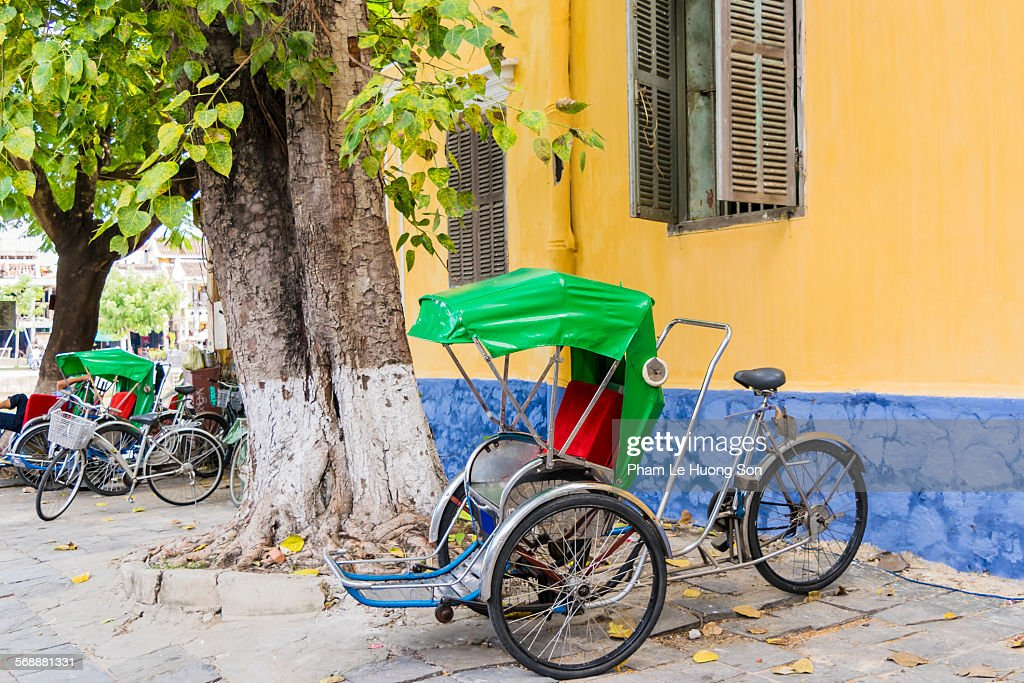 Pedicab on the street of Hoi An, Vietnam : Stock Photo