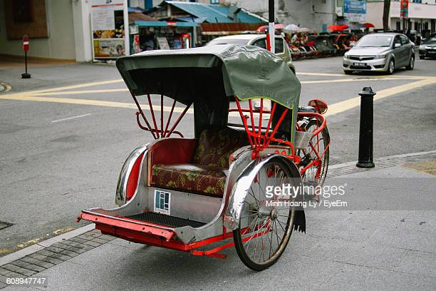 Pedicab Parked On Street