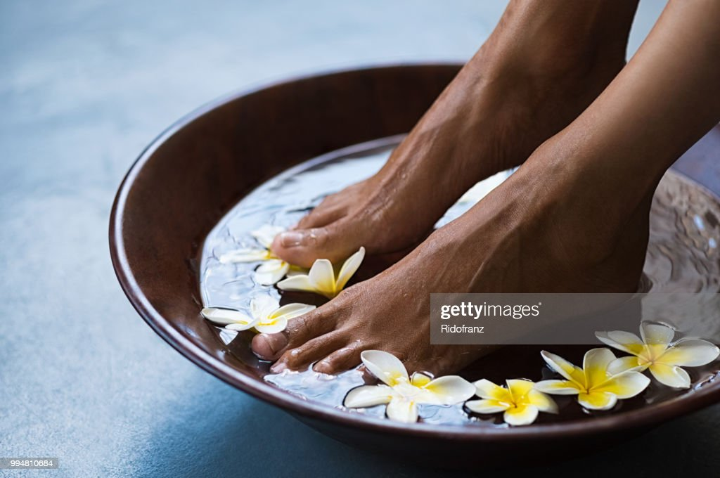 Pedicure at luxury spa : Stock Photo